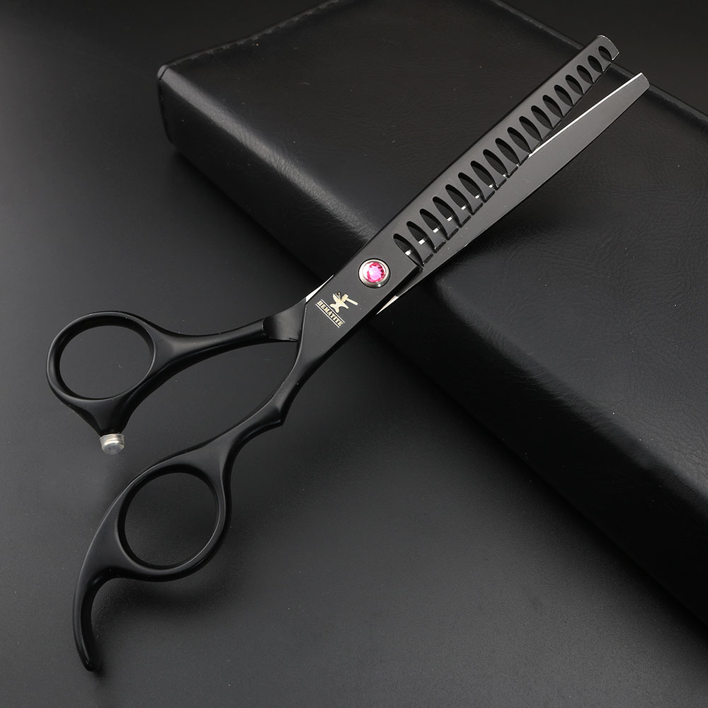 7 inch professional salon hairdressing scissors set Japan 440c imported cut scissors and scissors