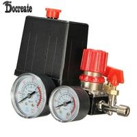 180PSI Air Compressor Pressure Valve Switch Manifold Relief Gauges Regulator Set