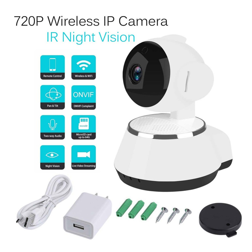 HD 720P Home Security IP Camera Wireless Mini Network Camera 2MP Night Vision Surveillance CCTV WiFi Camera Baby Monitor ICsee