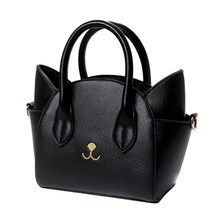 Abdb Fashion Lovely Women S Pu Leather Top Handle Shoulder Bags Female Cute Cat Messenger Handbags