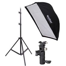 190cm Photography Light Stand + 60 x 90cm Umbrella Softbox + Hot Shoe Bracket kit 190cm