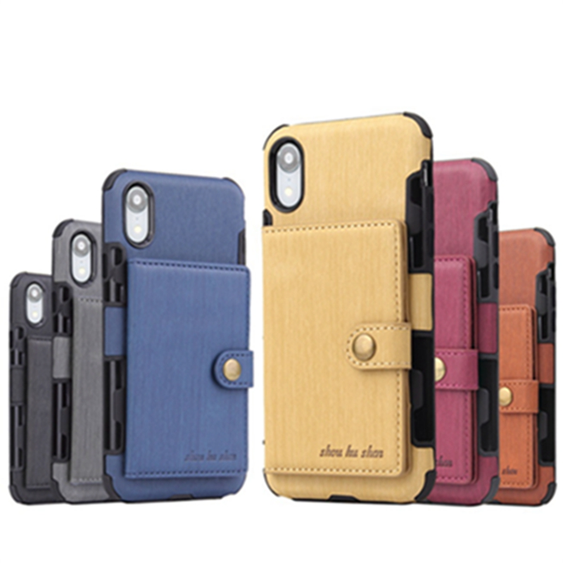PU Leather Shockproof Wallet Phone Case Cover With Card Pocket Slots for iPhone X XS MAX XR in Fitted Cases from Cellphones Telecommunications