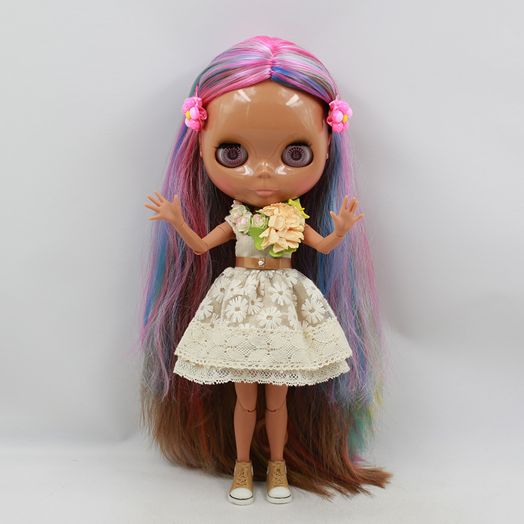 Nude Blyth doll with joint body 12 colors hair bjd doll 1/6 boneca negra bonecos colecionaveis baby dolls for girls free shipping 3d printer reprap prusa i3 movement kit gt2 belt pulley 608zz bearing lm8uu 624zz bearing
