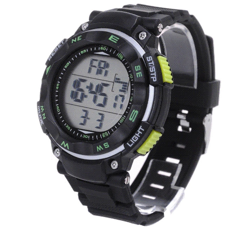 The new ideas of 50 meters waterproof LED digital watch sports men watches multifunctional luminous watches
