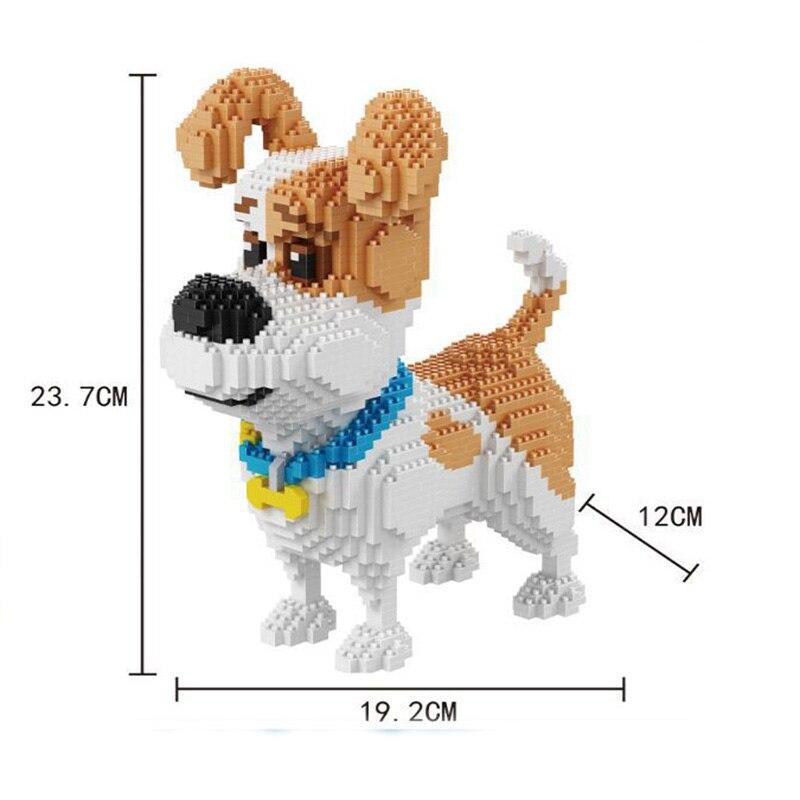 Balody Standard Poodle Dog White Animal Diamond DIY Mini Building Nano Block Toy