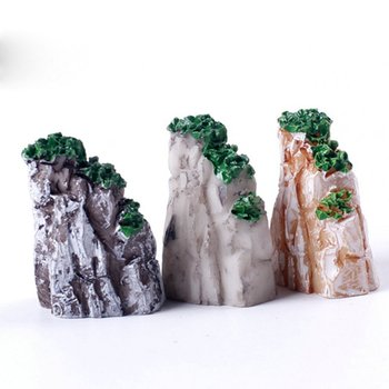 5/10PCS/Set Mini Mountain Miniature Toys Bonsai Ornaments Plant Gardening Garden Accessories Natural Resin Home Decorative 1