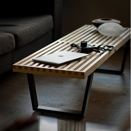 Japanese Style Korean Popular Solid Wood Coffee Table Minimalist Outdoor Creative Pastoral Fashion Casual Coffee