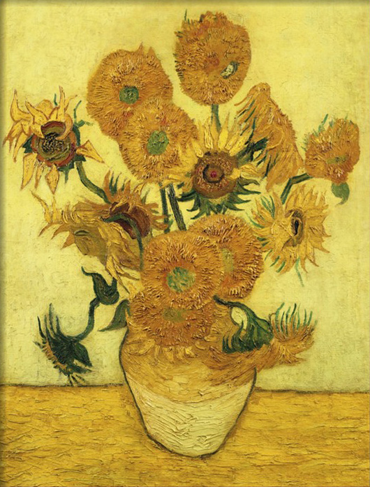 Arte di vincent van gogh girasole serie Olio dipinta a Mano iris in ...