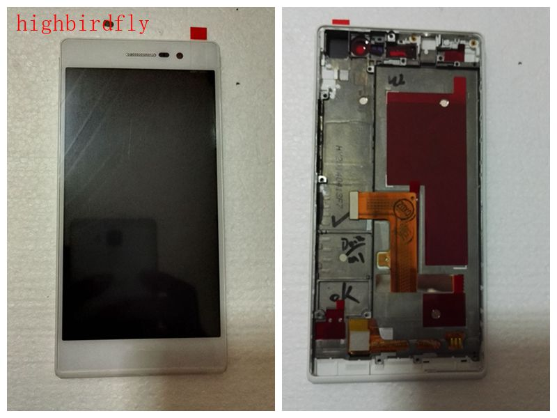 For huawei P7 Lcd Screen Display With Touch Glass Digitizer With Frame Assembly Replacement parts
