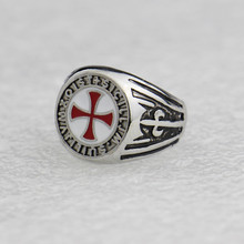 DCARZZ, обручальные кольца, нержавеющая сталь, косплей, геймер, серебряные кольца, модные ювелирные изделия, крест тамплиеров, эмалевое кольцо для женщин/мужчин, подарок