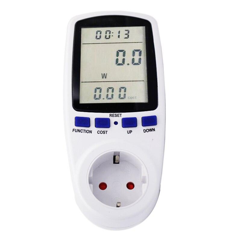 все цены на EU Digital Volt Voltage Wattmeter Power Analyzer Electronic Power Energy Meter Automatic Kwh Power Switch 53%off