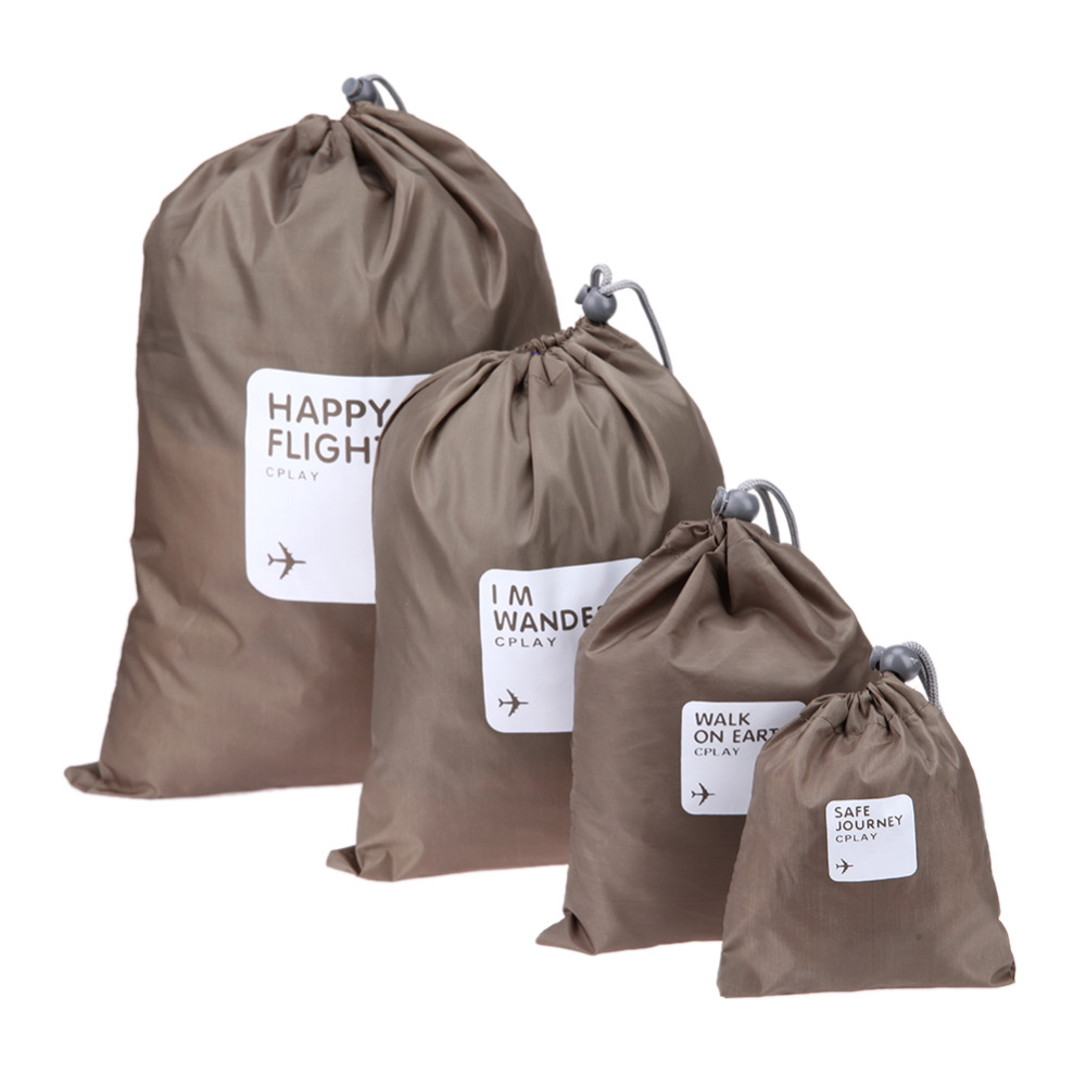 4pcs Set Receive Travel Shoe Laundry Bag Household Waterproof Pouch Storage Bags For Clothing Cosmetic Underwear