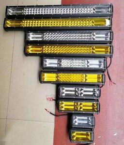 Image 5 - 17 20 23 26 32 polegada 360 w triple row led barra de luz trabalho âmbar combo nevoeiro drive lâmpadas para caminhões offroad barco atv 4x4 4wd marinha