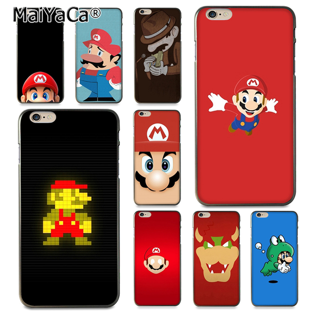 purchase cheap 600f6 2c6d9 US $1.17 10% OFF|MaiYaCa Super Mario soft tpu Rubber Cell Phone Case for  iPhone X 6 6s 7 7plus 8 8Plus 5 5S 5C case-in Half-wrapped Case from ...
