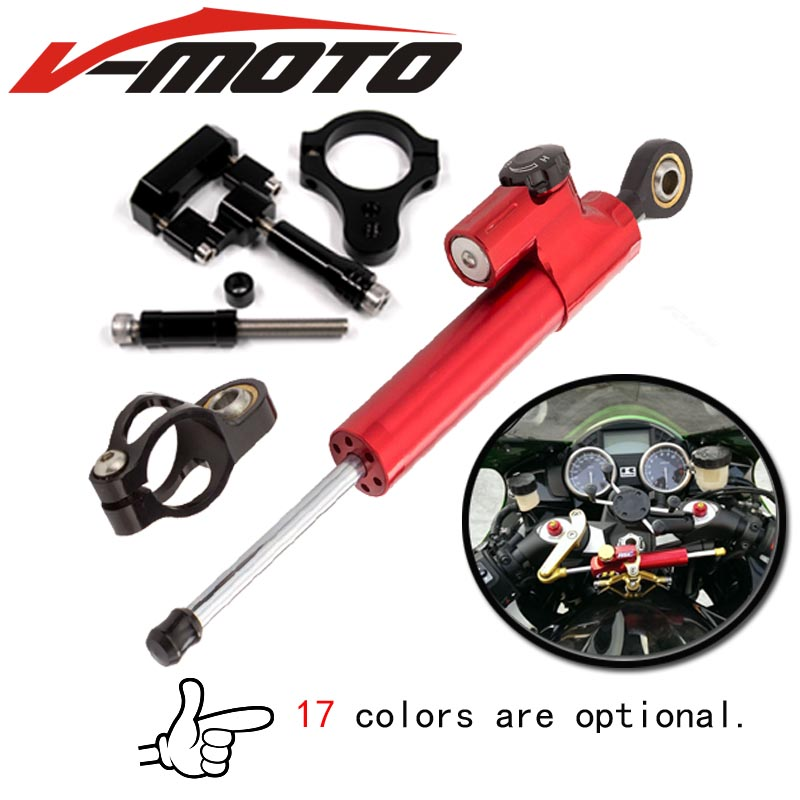 For YAMAHA MT03 R25 R3 R6 Motorcycle cnc Universal Stabilizer Damper Complete Steering Mounting Bracket ...