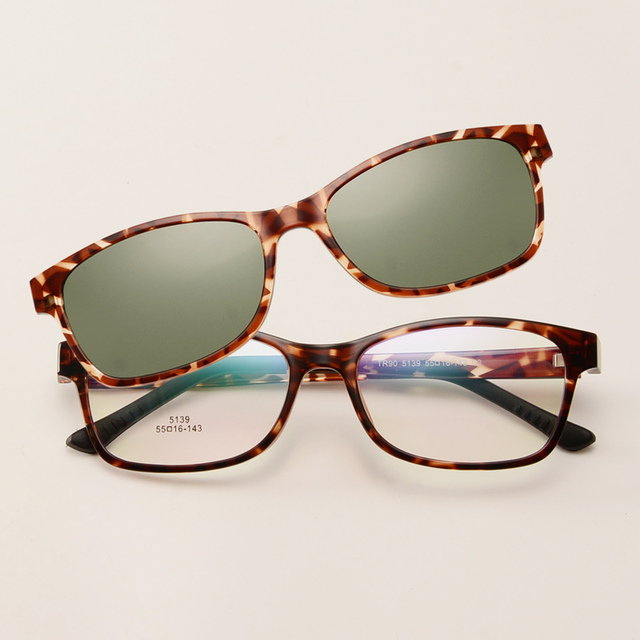 Óculos de sol uv400 polarizada clipe óculos de armação armações de óculos eyeware simples Luz Super Condução óculos de Visão Noturna Óptica