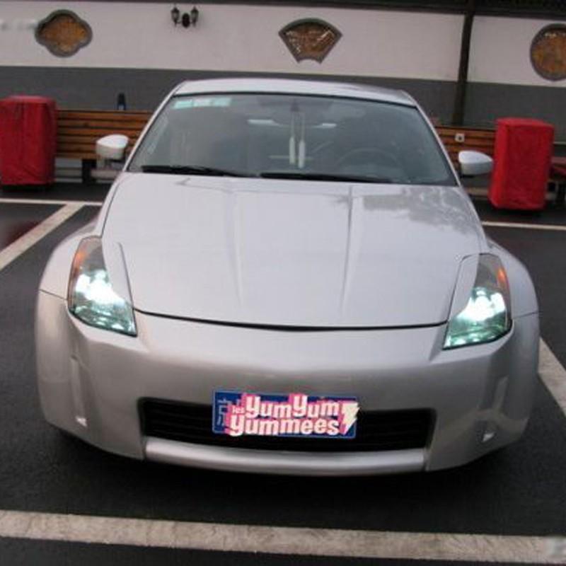 Dry Carbon Frontscheinwerfer Abdeckung Augenlid Licht Augenbrauen passt Nissan 350Z 2-T/ürer 2003-2006