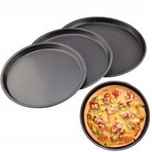 8 9 10 inch Pizza Plate Round Deep Dish Pizza Pan Tray Carbon Steel Non-stick Mold Baking Tool Baking Mould Pan Pattern