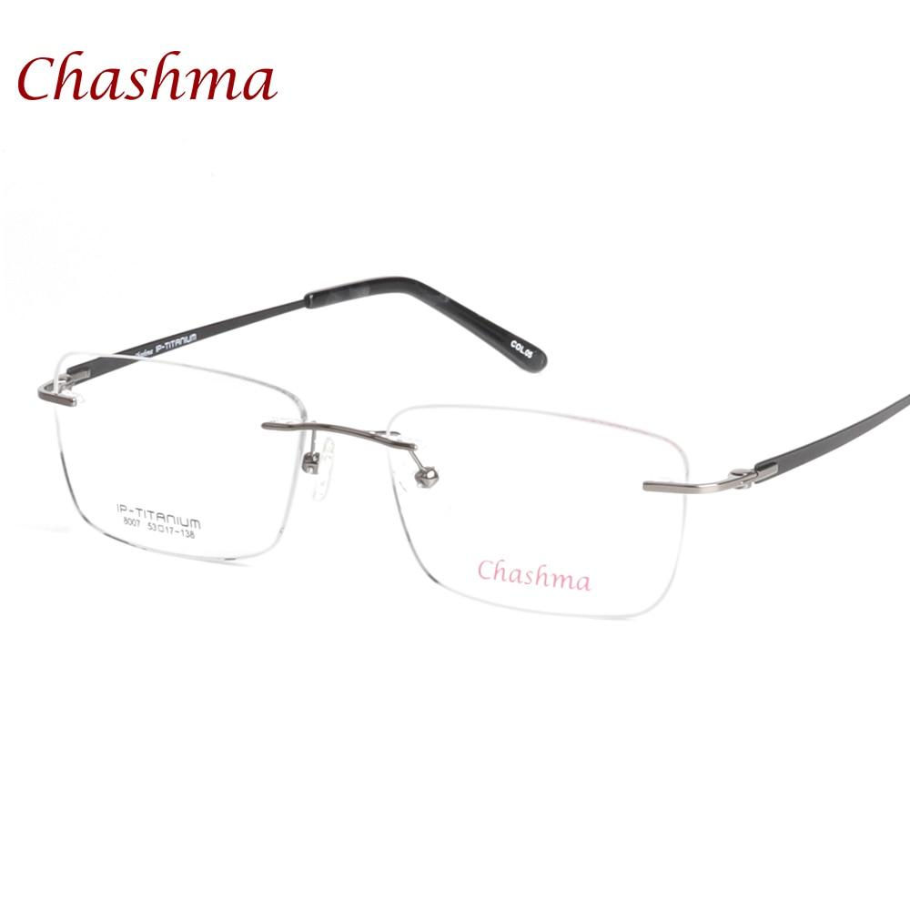 Chashma Brand Eyewear Armacao para gafas de calidad superior Gafas de sol sin marco Gafas sin montura Gafas de titanio puro Hombres