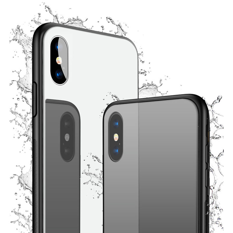 All-round Protect Tempered Glass Case for iPhone x Ultra Thin Transparent Soft Back shell with Glass Film for iPhone x 10 Ten