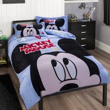 cb069648ea Marca Grande Dos Desenhos Animados da DISNEY Mickey Mouse Conjuntos de Cama  100% Algodão Folha de Capa de Edredão Set Queen Size.