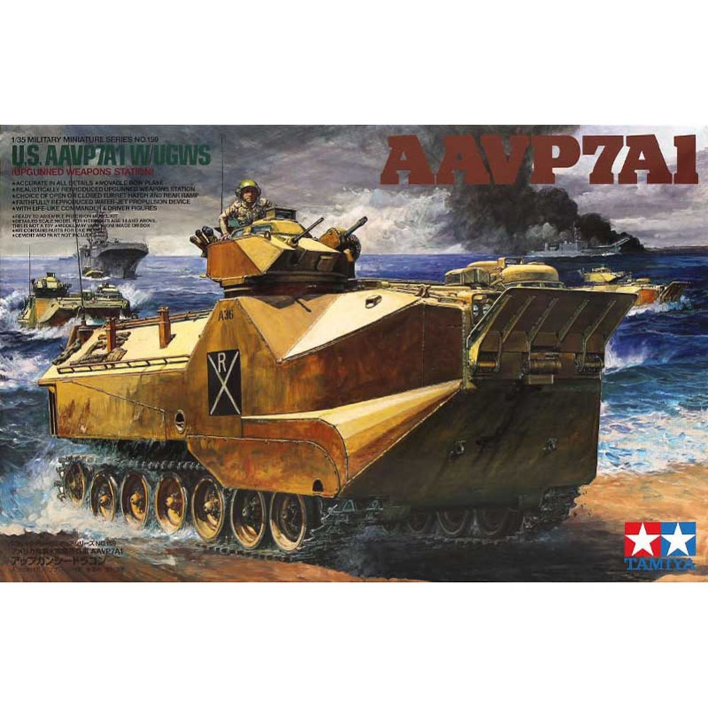 OHS Tamiya 35159 1/35 US AAVP7A1 W/UGWS Military Assembly AFV Model Building Kits oh ohs tamiya 35289 1 35 russian heavy tank js2 model 1944 chkz military assembly afv model building kits