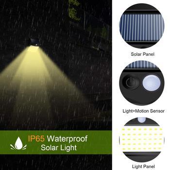 1/2/4 Pcs Solar Lights Outdoor 40 LED Warm White Solar Motion Sensor Lights Waterproof Wireless Solar Security Lights For Garden