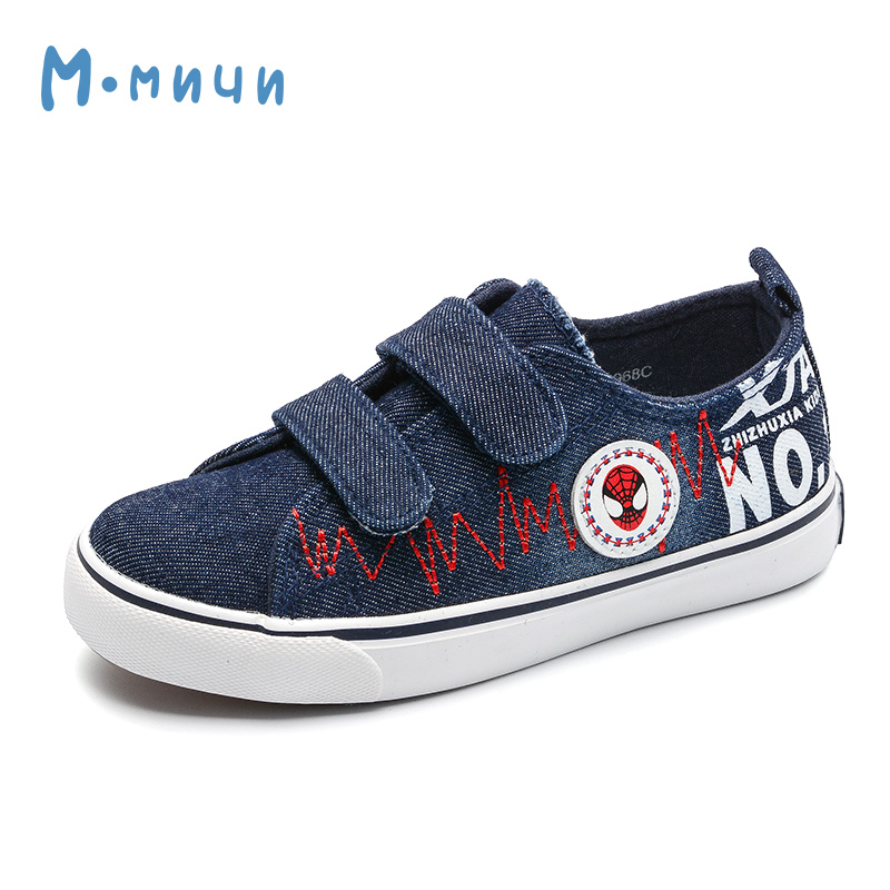 MMNUN 2018 New Spring Boys Shoes with Spider Denim Canvas Kid Children Sneakers Boy Shoes Childrens Shoes Boys Causal Shoes 968