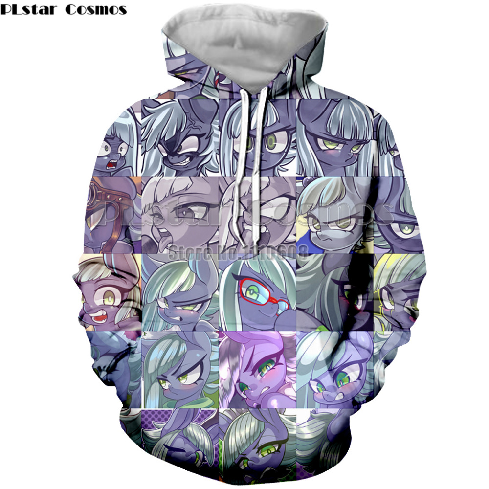 PLstar Cosmos Newest My New Little Ponys Women Mwn Clothes Cute Outerwear Pullover  Jackets Coat Hoodies Clothing Brand Wear