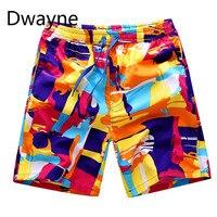 2017 Summer Mens Beach Shorts Candy Colors Brand Printed Boardshort Bermuda Masculina Hot Sale Asia Size