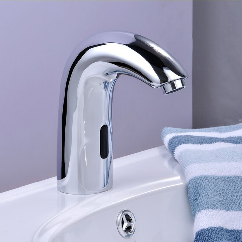 ITAS9912 bathroom free shiping  automatic faucet  single head  cold faucet kitchen sensor modern  304 stainless steel handsfree