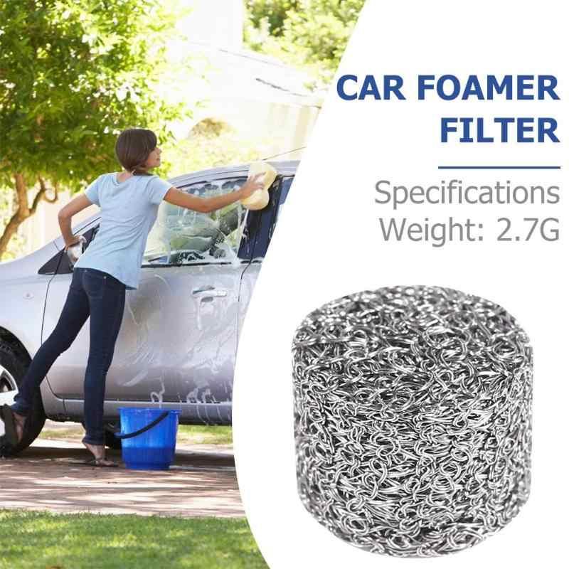 洗車泡ポットフィルターカートリッジステンレス泡ランスフィルターランスメッシュタブレット交換クリーンための泡発生器