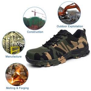 Image 4 - JACKSHIBO Мужская безопасная обувь со стальным носком, рабочие/защитные ботинки размера плюс, мужские защитные ботинки с защитой от проколов, рабочие дышащие кроссовки