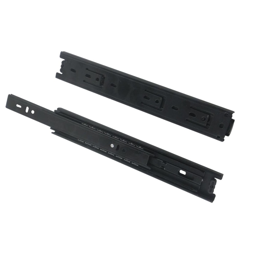 2pcs 12inch Drawer Slides Runner 40mm Width Black Cold-Rolled Steel Ball Bearing Sliding Rail for Drawer Cabinet domestic steel luxury damping drawer slides drawer 300mm deep into the low to help