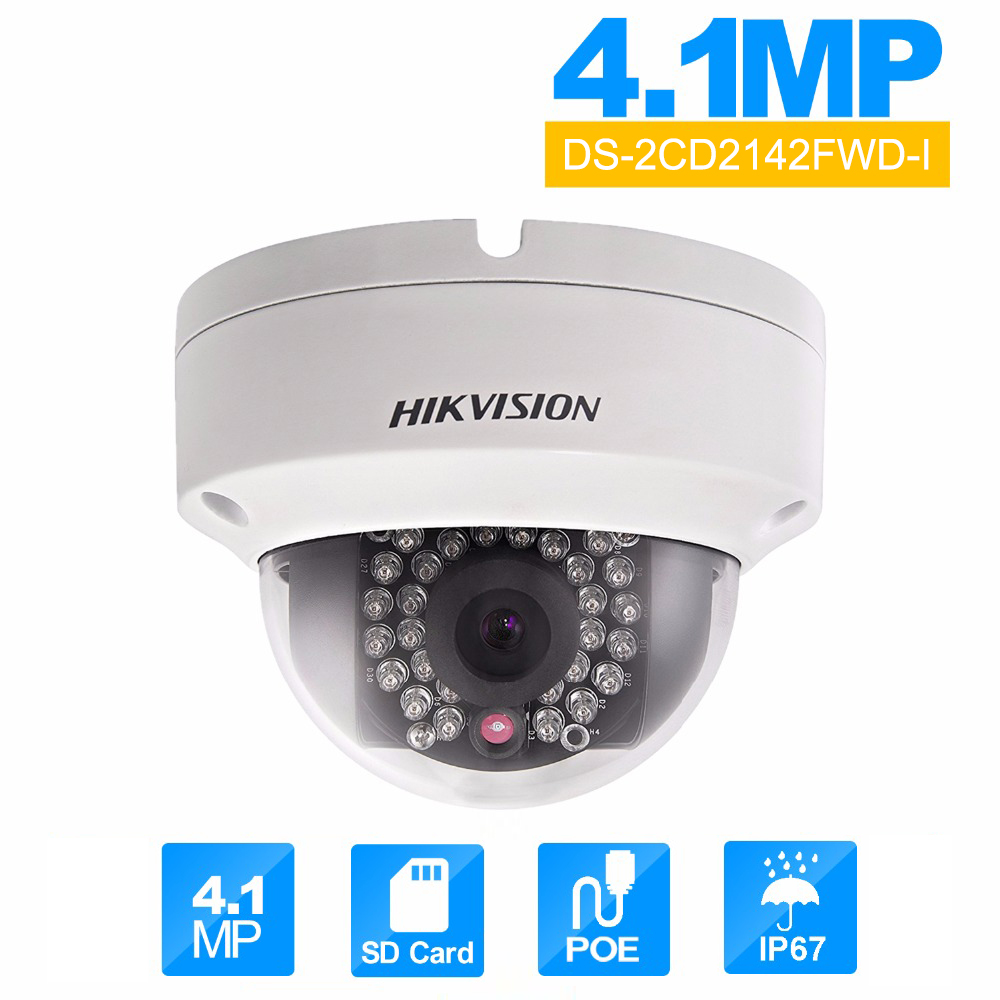 Original Hik DS-2CD2142FWD-I poe IP Camera Onvif  Dome cctv Cam cam module Indoor/Outdoor Security Camera ds-2cd2142fwd-i