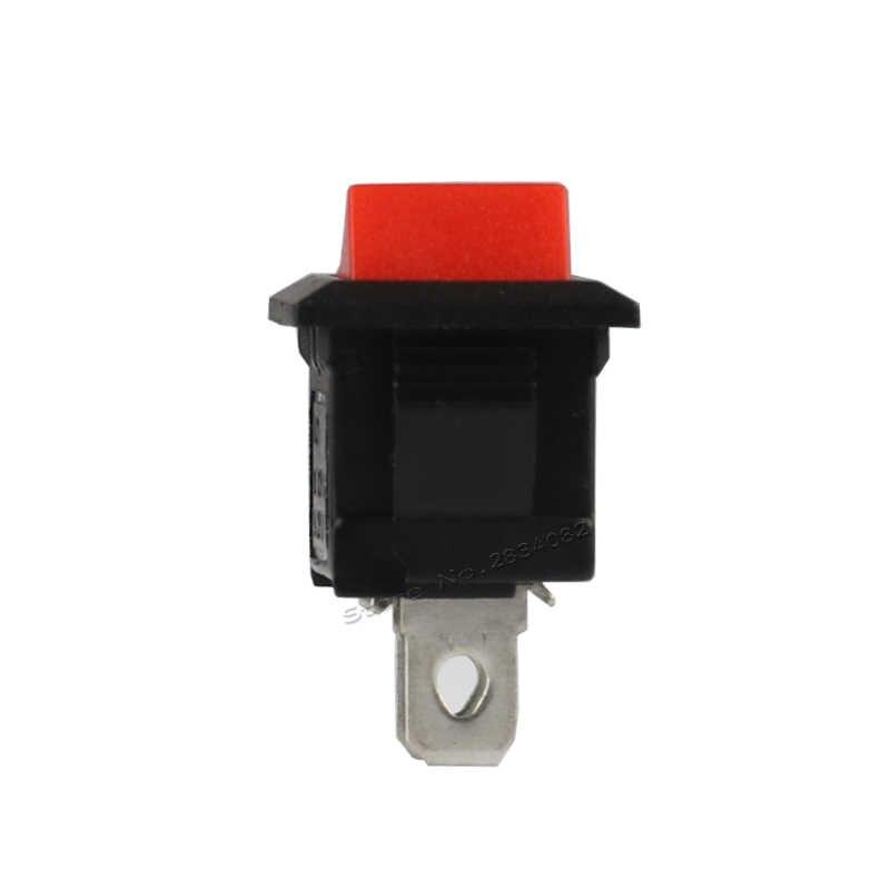 2 pines 6A/250VAC 10A/125VAC interruptor de barco basculante SPDT 2 posiciones 2 archivos de bloqueo interruptor de alimentación de cobre pin rojo