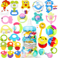 Paquete de juguetes de bebé de juguete sonajeros 0 3 6--12 meses de edad recién nacido campanilla mordedores bebé 0-1 años de edad