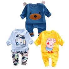 Baby Boy Clothes Brand new 2017 Autumn latest style high quality O-Neck full Sleeve 1-3 y Children boys clothing set A057-85