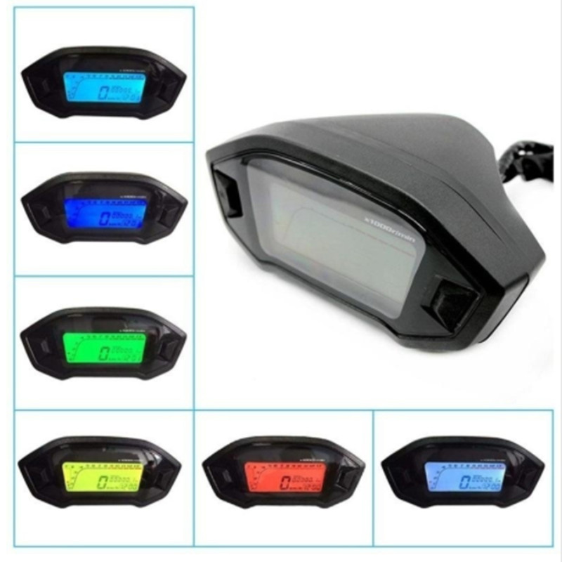 Image 2 - Universal Motorcycle LCD Digital 13000rpm Speedometer Backlight Motor cycle for 2 4 Cylinders meter Odometer Dropshipping-in Instruments from Automobiles & Motorcycles