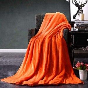 Image 5 - CAMMITEVER Home Textil Reine Farbe Weiß Kaffee Grün Feste Luft/Sofa/Bettwäsche Wirft Flanell Decke Alle Jahreszeiten Weichen bettlaken