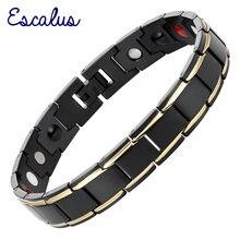 Эскалус Модные мужские черные магнитные ювелирные изделия браслет