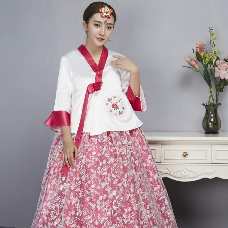Korean traditional costume court ladies portrait ethnic dance wedding stage service hanbok