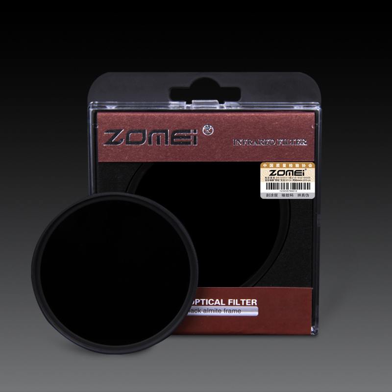 ZOMEI 82mm IR Filter 720NM X-Ray Infrared Filter F//Canon Nikon Sony DSLR Lens
