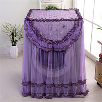 1pcs Lace Waterproof Sunscreen Washing Machine Cover dust proof Case Washing Machine Protective Dust Jacket 60*80*54cm