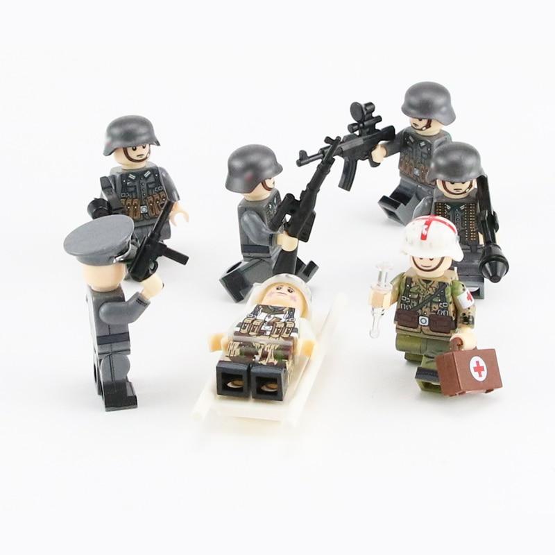 US SELLER*** 2pcs WW2 CUSTOM German Army /& Weapons Military Minifigures Block