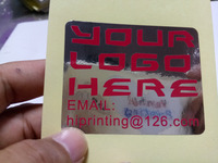 Printing Waterproof clear plastic label stickers printing,hot selling personal stickers