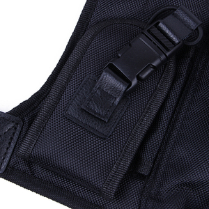 Image 4 - New walkie talkie chest pocket pack backpack handset radio Holder Bag for GP340 CP040 BF UV 5R 888S two way radios carry case