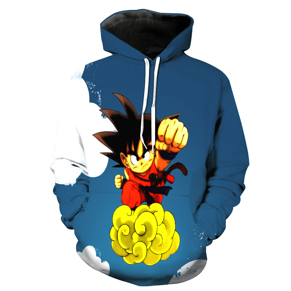 Sondirane Cool Style 3D Cartoon Dragon Ball Z Goku Hoodies Funny Pullovers Long Sleeve Hip Hop Sweats Tops Clothing Plus Size