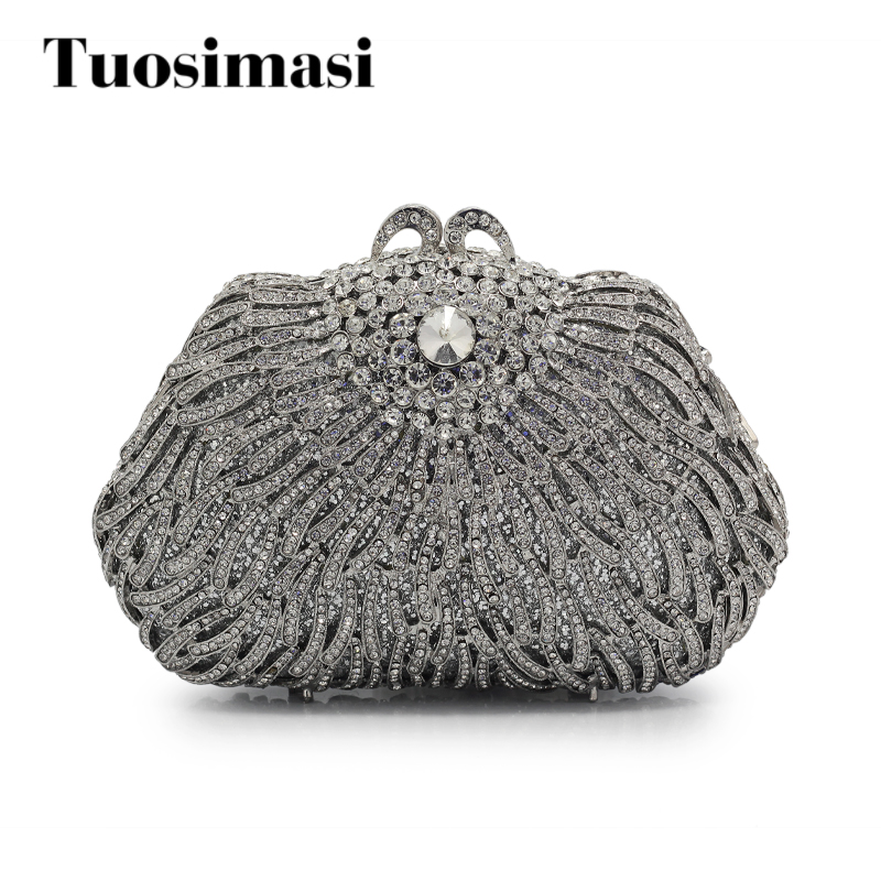 Casual Clutch Purse Crystal Evening Bags Women Wedding Party High Quality Handbags With Chain Crossbody bag(88210-RG) цена