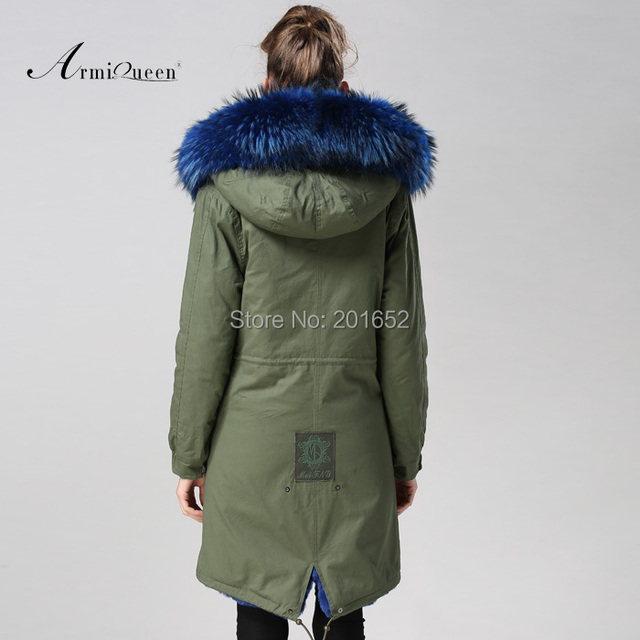 Women raccoon Winter Warm Parka high quality Faux Fur parka Hooded Coat Overcoat Tops Women's Fur Jacket 6